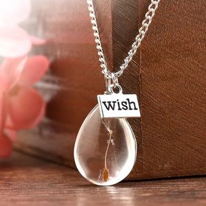 Wish Dandelion Seed necklace 🆕 New with gift box